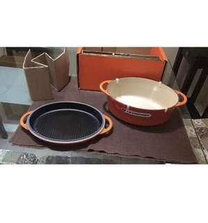 Le creuset 28cm oval 2in1 RFO and grill pan