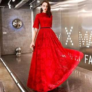 Elegant red lace Dress / evening gown