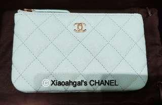 🌟V V RARE!! 1st to got it!! RECEIPT🌟🌞AUCTION▶️MY FOLLOWERS Exclusive!🌞🚫Non Followers No bid🚫👜AUTHENTIC BRAND NEW IN BOX (Full Set)👛NEWEST 19C CHANEL (Chanel) Tiffany Blue O Case Wallet/ Purse👛💋No Pet No Smoker CLEAN Hse💋
