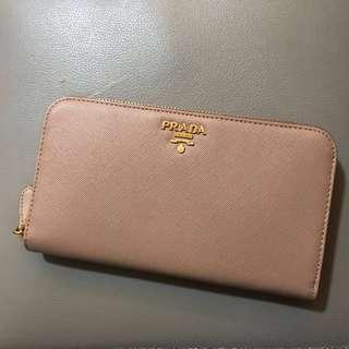 全新保證真品 Prada Wallet 長型銀包 裸色nude 連原裝盒 送禮物首選