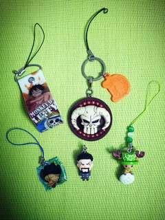 One Piece Keychains & Charms (E)
