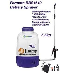 FARMATE BBS1610 16L RECHARGEABLE BATTERY KNAPSACK SPRAYER