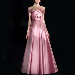 Elegant pink dress / evening Gown / wedding gown