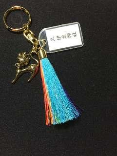 Multicolored Bag Charm