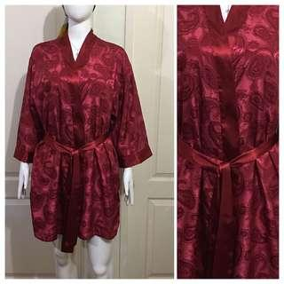 NC104 ruby red bathrobe