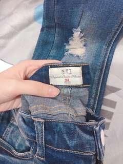 🚚 Net 深藍色破洞牛仔褲👖