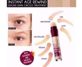 GET ALL 3 *Maybelline Instant Age Rewind Dark Circle Eraser Treament Concealer* FOR $40 ONLY!!!