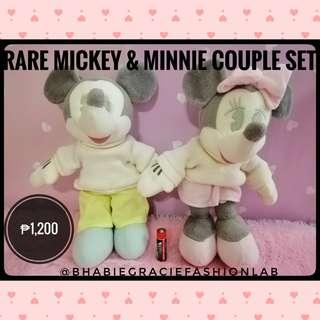 Rare Mickey and Minnie Stuffed Toy