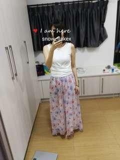 Zara Floral Maxi Skirt