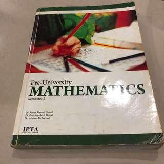 Mathematics Textbook/Reference book for Asasi/Matrik/STPM