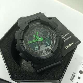 RARE 100% Authentic Green Hands Casio Gshock GA100 Series with FREE DELIVERY 📦 Brand NEW IN BOX G-Shock