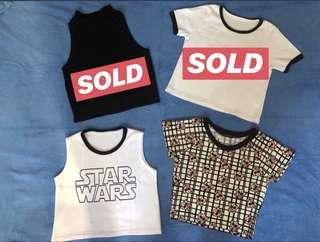Cropped tops