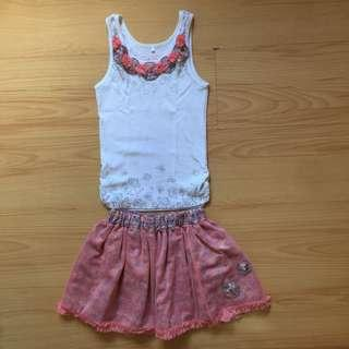 Miss Cupcake skirt and top Size 8/10