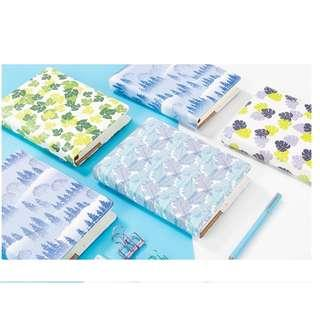 PO Green / Blue Leaf / Triple Colour Leaves / Forest Pattern 2019 Planner Note Book Notebooks 4 Designs
