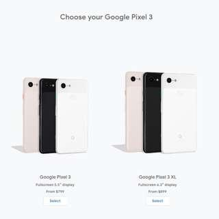 <Pre-order> Google Store US PIXEL 3 & PIXEL 3XL