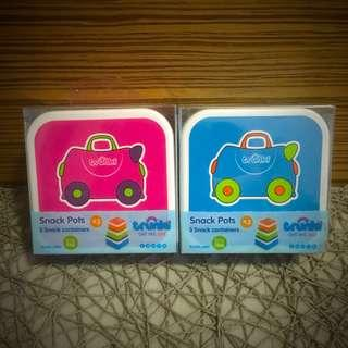 BN Trunki Snack Pots Pot Cup Cups Pink Blue Brand New Baby Self Feeding (Set of 3)