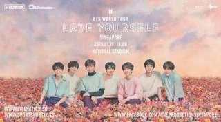 "Concert Tickets - BTS WORLD TOUR ""LOVE YOURSELF"" SINGAPORE"