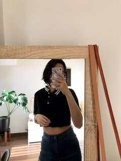 H&M polo crop top