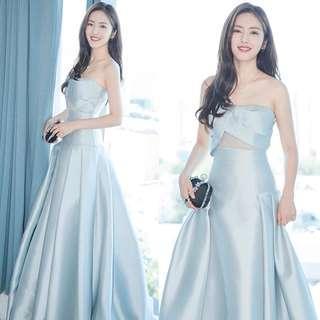 Elegant blue tube Dress / evening gown