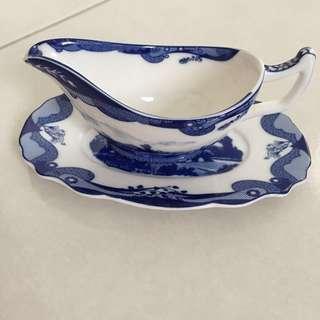 Fine Porcelain Hand Painted Miniature Sauce/Gravy Boat