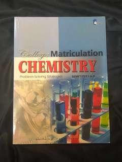 College Chemistry Textbook/Reference book for Asasi/Matrik/STPM