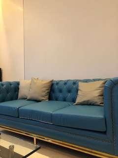 藍色時尚梳化 sofa 沙發