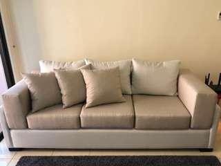 Two-Tone Beige Sofa