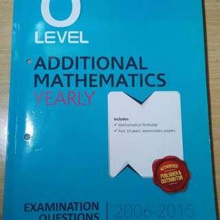 Olevel Additional Mathematics TYS