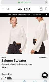 BLACK Aritzia Salome Sweater XS
