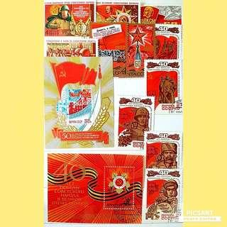 1980s Vintage Stamp Collection in an Album, all Russia or USSR, Mostly Unused, Beautiful Condition. As in these photos, More than 200pcs in  stamp album for $88 offer, Whatsapp 96337309.