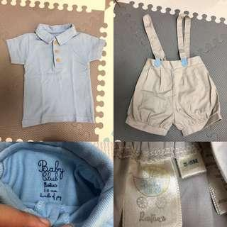 (6mos): Baby Club Rustan's Shirt and Jumper Set