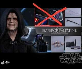 STAR WARS EMPIRE STRIKE BACK MMS468 EMPEROR PALPATINE FIGURE ONLY (NOTE:WITHOUT THE CHAIR) & LUKE LIGHTSABER