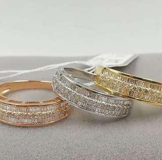 Diamond (Stack) Ring  Set in 18ct Gold 1.2tcw Diamonds VVS F-G Diamonds 💯Genuine and Earth-mined Diamonds  Top Quality HK Settings  Grab your diamond ring now!   #diamondsareforever #ring #diamondsaregirlsbestfriend #diamonds