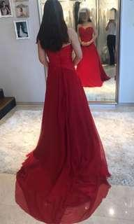 🚚 Bespoke Red Evening Gown