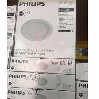Philip 14W Marcasite Down Light Round