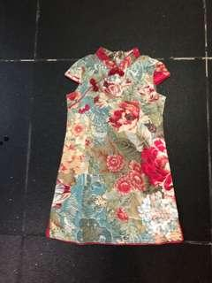 Chinese collar dress for 5 years old