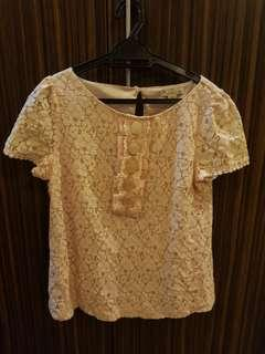 Forever 21 Lace Top in Dusty Pink