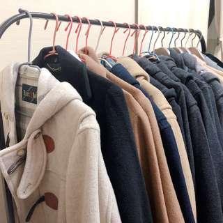 🚚 💖冬季毛呢大衣!預告上架!牛角釦大衣外套!長版翻領外套!