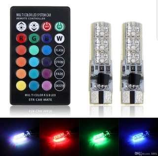 T10 Strobe Flash Lights LED Multi Color