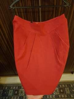 Jaspal red Tulip Skirt