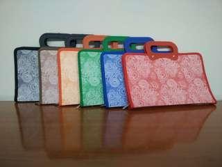 Zipper bag motif Batik ZT a5