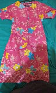 Dress batik kondangan ukuran xl