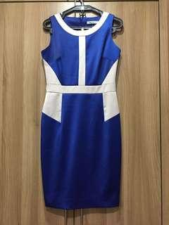 NEW Karen Millen blue/white party dress