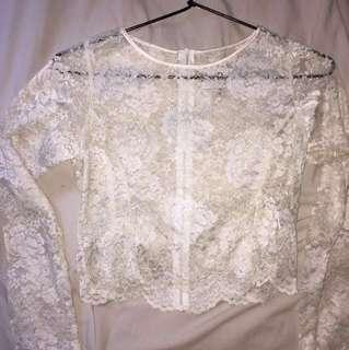 Her Pony Vintage Lacey Festival Top