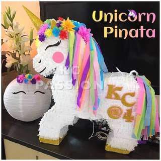 🎊 UNICORN PARTY PINATA • PIÑATA Customized • Personalized • Pull String • Hit Type • Party Piñata Decoration • Table Center Piece • Photo Booth Props