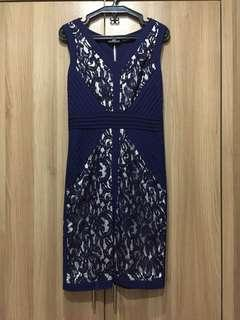 NEW Karen Millen dark blue lace party dress
