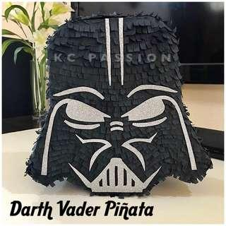🎊 STAR WARS DARTH VADER PARTY PINATA • PIÑATA Customized • Personalized • Pull String • Hit Type • Party Piñata Decoration • Table Center Piece • Photo Booth Props