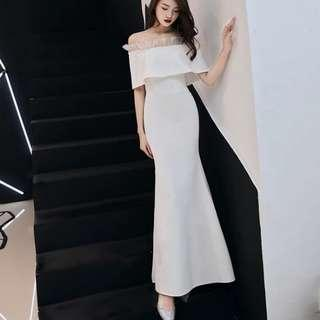 White off shoulder dress / evening gown