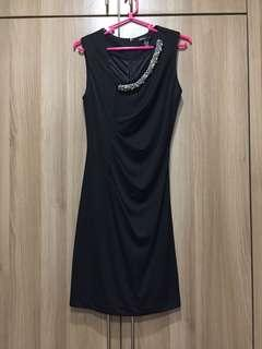 Mango sexy black party dress