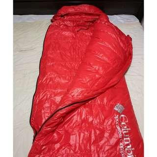 Goose down sleeping bag Red color